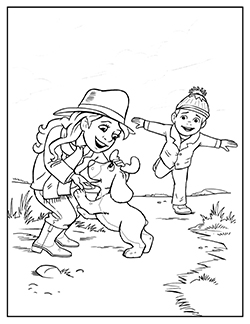 moose track coloring pages - photo#27